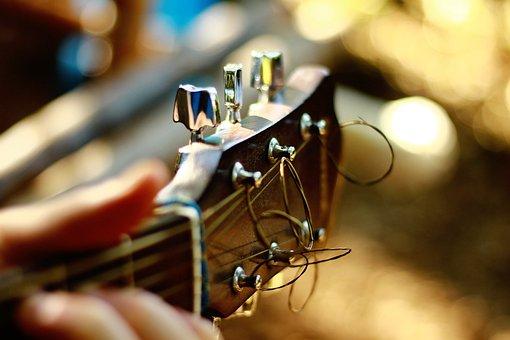 Acoustic Guitar, Blur, Blurry, Bokeh, Capstan, Chrome