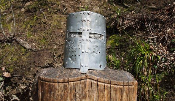 Knight, Helm, Middle Ages, Funny, Practical Joke, Art