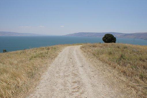 Sea Of Galilee, Away, Trace, Lake, Landscape, Israel