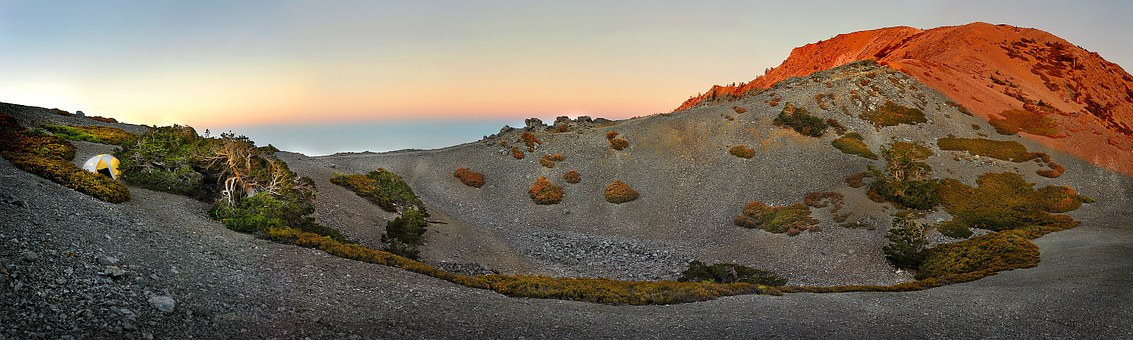 Alpine Sunset, Mt Baldy, Backpack, Tent, Mountain
