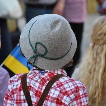 Child, Boy, Human, Small, Hat, Costume, Bavaria