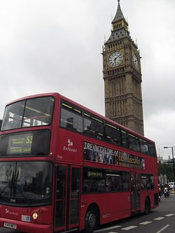 Bus, Two-storied, Big Ben, Belfry, London