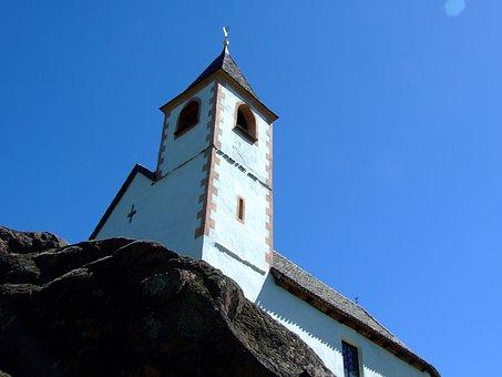 Hippolytus, Lana, Church, Blue, Blue Sky, South Tyrol