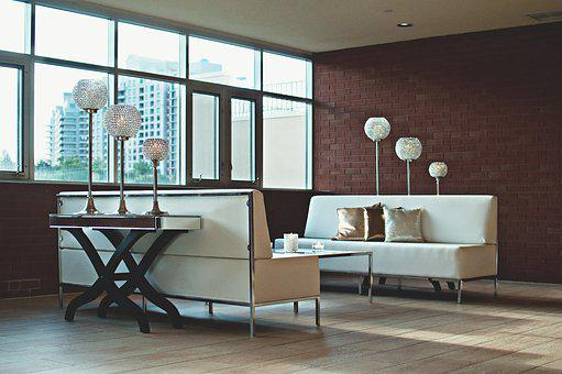 Apartment, Brick Wall, Contemporary, Couch, Furniture