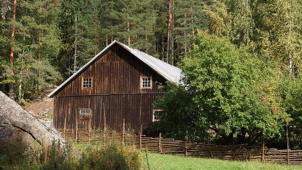 Building, Barn, Woodshed, Abandoned, Countryside