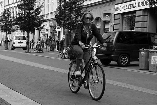 Ciclista, Black And White, Mrs, Round, Ride, Road