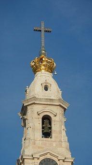 Steeple, Cross, Crown, Belfry, Bell Tower, Architecture