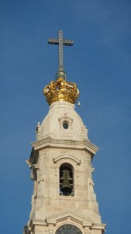 Steeple, Cross, Crown, Belfry, Bell Tower, Architecture