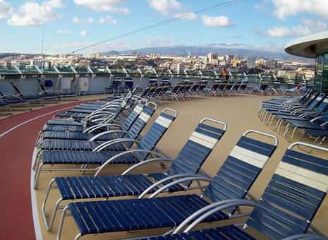 Cruiseship, Deckchairs, Sunloungers, Deck, Expensive