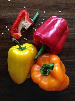 Paprika, Capsicum, Pepper, Food, Healthy, Fresh, Red