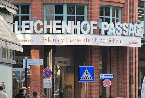 Passage, Hamburg, Bleichenhof Passage, Hanseatic