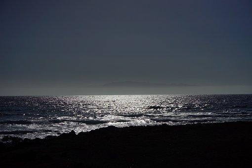 Sea, Ocean, Back Light, Island, La Reptiles, Beach