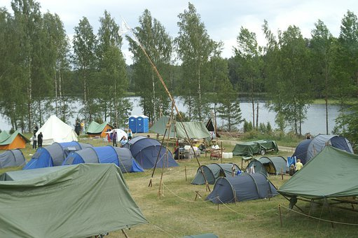 Camp, Tent, Outdoor Life