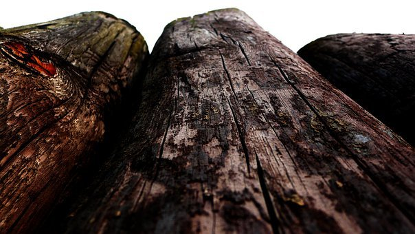 Wood, Posts, Old, Wooden, Perspective, Poles, Worn