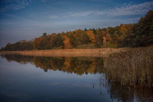Lake, Water, Landscape, Reflections, Glass Joke