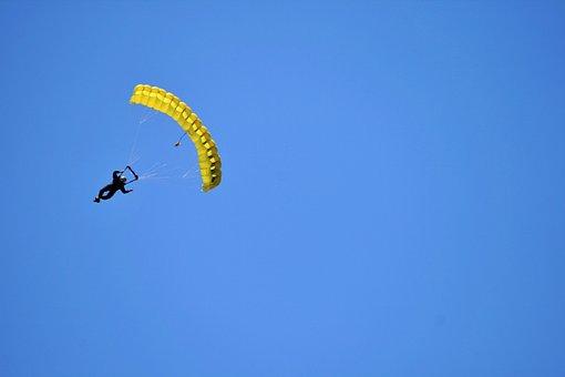 Parachutist, Skydiver, Skydiving, Sky, Parachute