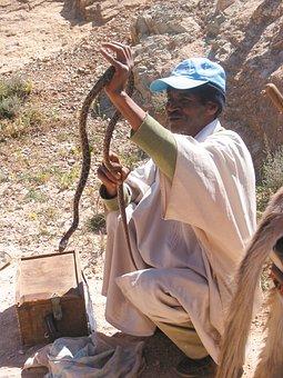 Morocco, Snake Charmer, Snake, Djellaba