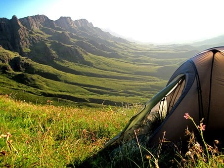 Tent, Mountains, Sani Pass, South Africa, Lesotho