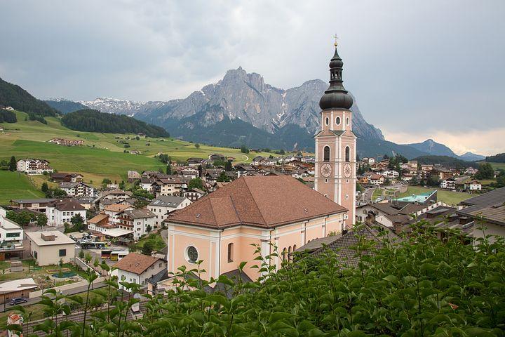 Kastelruth, South Tyrol, Mountains, Church