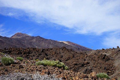 Lava Flow, Lava, Cold, Teide, Pico Del Teide, Teyde