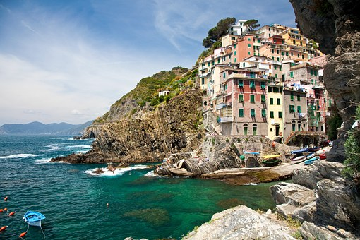 Cinque Terra, Italy, Mediterranean, Riomaggiore, Town