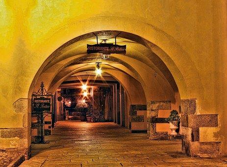 Cannobio, Porch, Night, Architecture
