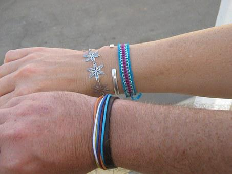 Bracelet, Blue, Two, In Conjunction With The