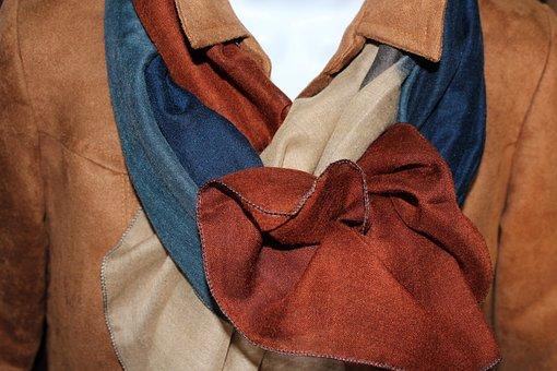 Handkerchiefs, Clothing, Brown, Elegant