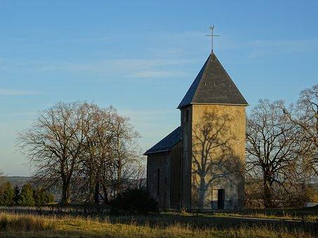 Church, Building, Brick, Historically, Cross, Christian