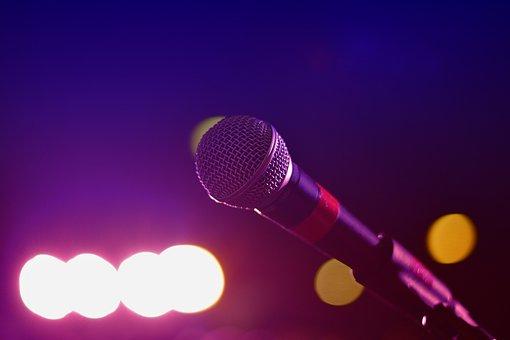 Audio, Microphone, Bokeh, Bright, Close-up, Karaoke
