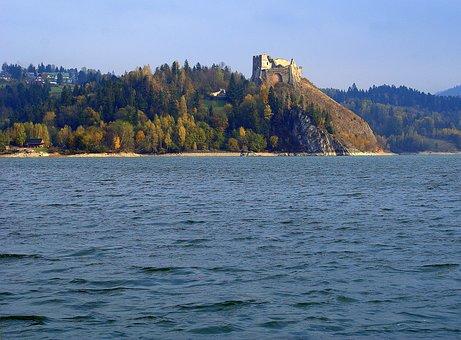 Czorsztyn Castle, The Ruins Of The, Czorsztyn, Water