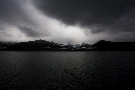 Bad Weather, Beach, Calm Waters, Clouds, Cloudy, Dark