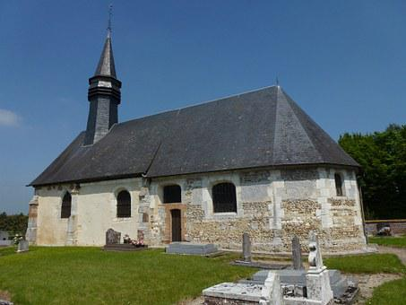 Barville, Eure, France, Church, Building, Religious