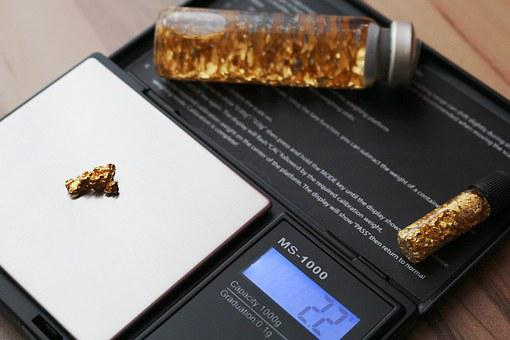 Horizontal, Pocket Gold, Gold Nugget, Gold