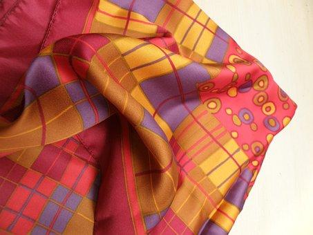 Scarf, Colored, Printing, Handkerchief