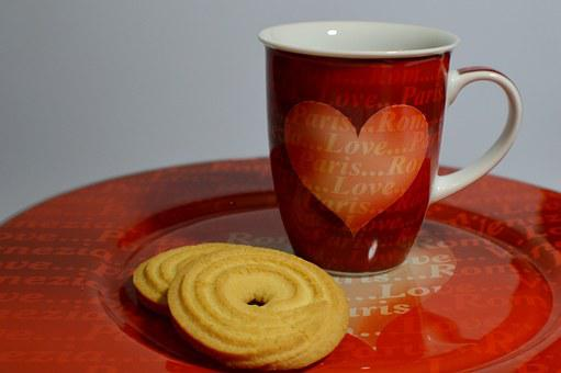 Cup, Heart, Romance, Valentine's Day, Tableware, Coffee