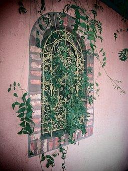 Majorelle Garden, Morocco, Marrakech, Window, Ornament
