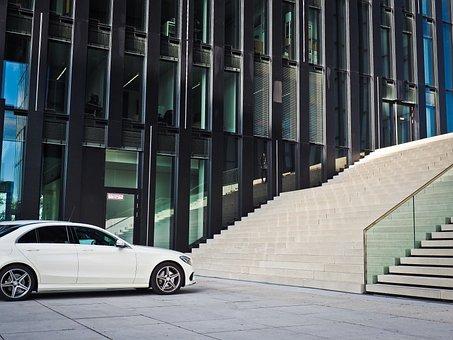 Architecture, Facade, Building, Düsseldorf, Modern