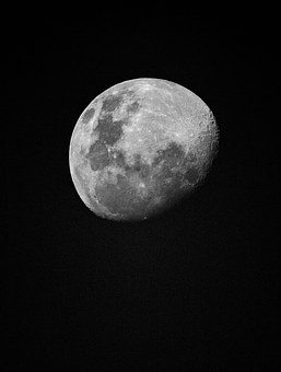 Moon, Black And White, Astrophoto