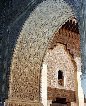 Morocco, Marrakech, Arc, Decoration, Arabesques