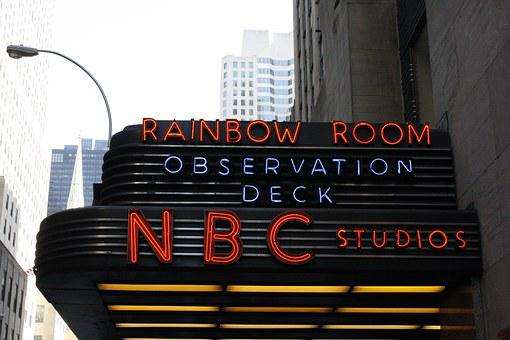 Rainbow Room, Nyc, Nbc, Studios, Observation Deck, Sign