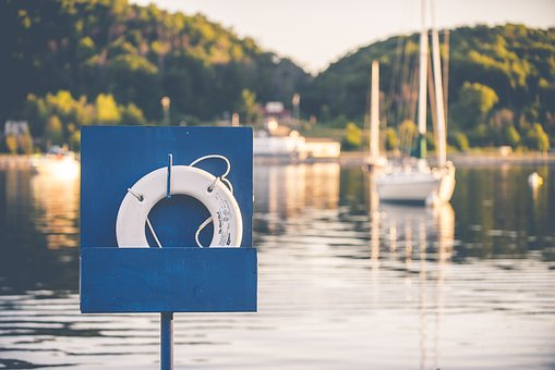 Boat, Inflatable Ring, Lake, Lifebuoy, Outdoors, Pier