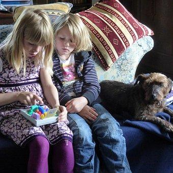 Children, Family, Dog, Family Life, Animals, Play