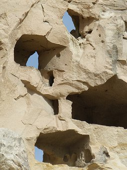 Stone, Rock, Tufa, Leaching, Erosion, Hollowed Out