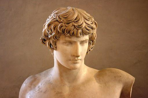 Antinoo, Sculpture, Marble, Louvre, Museum