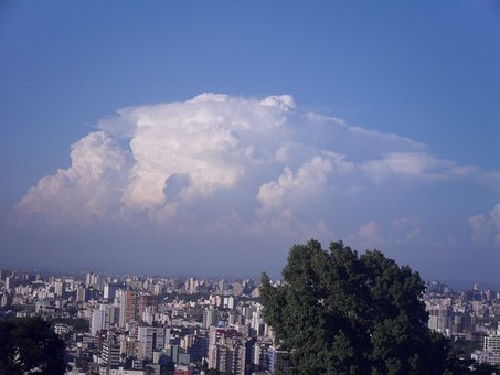 Cloud, Sky, City, Buildings, Porto Alegre, Afternoon