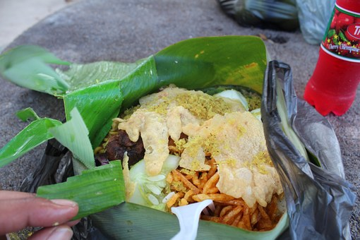 Surinamese Food, Food In Banana Leaf, South America