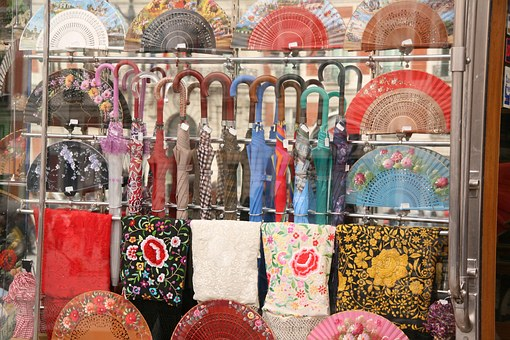 Umbrella, Handkerchiefs, Madrid, Spain