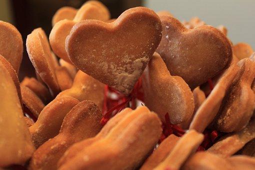 Cookies, Heart, Sweet, Dessert, Valentine, Love, Shape
