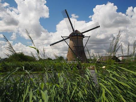 Windmill, Forward, Rainy, Holland, Holiday, Wind